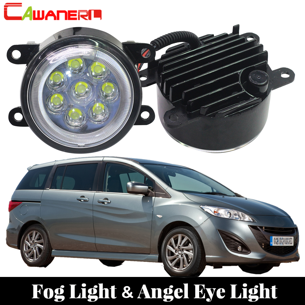 Cawanerl Car Accessories LED Fog Light Angel Eye Daytime Running Light Lamp DRL 12V For 1999-2006 Mazda MPV II (LW) цены
