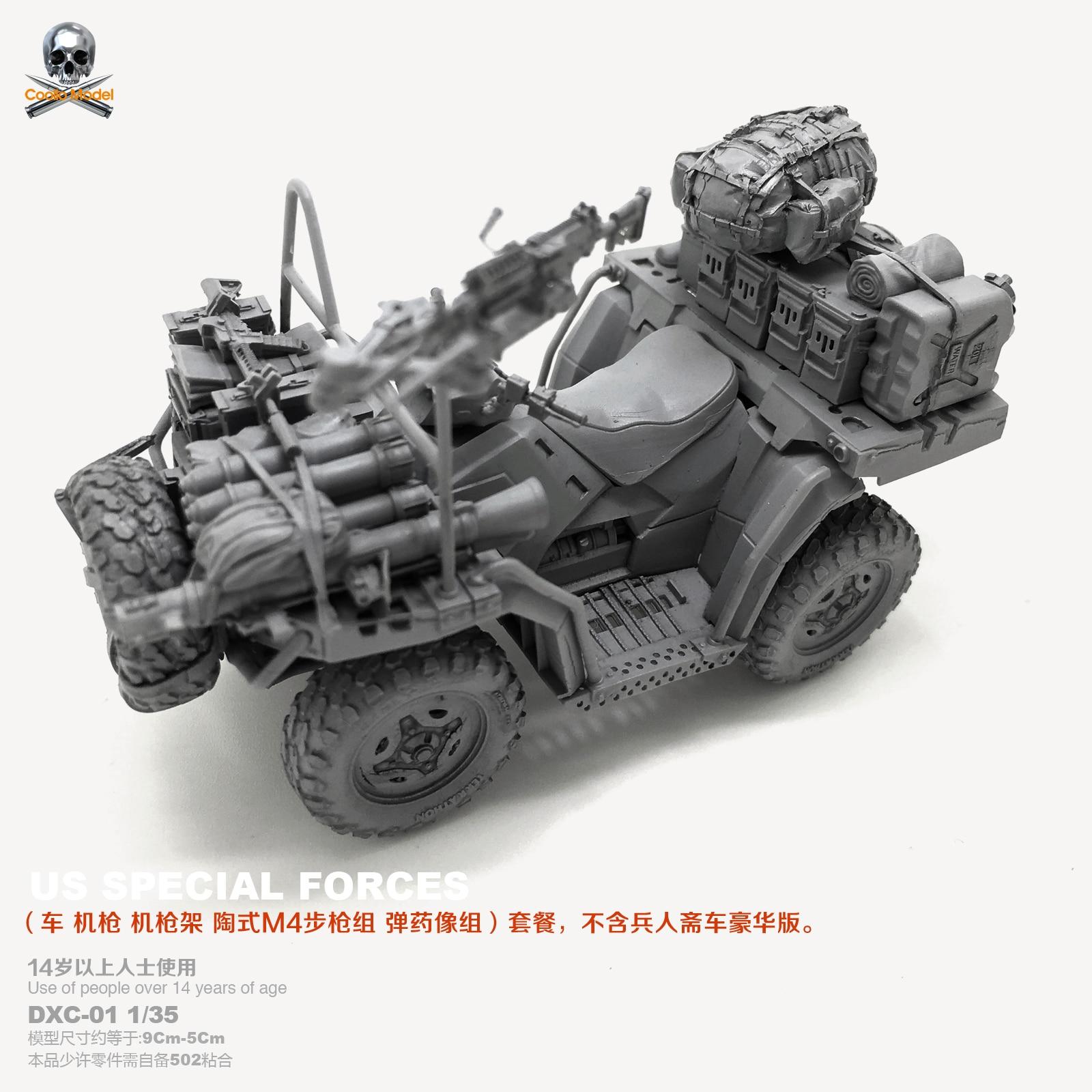 DIY Resin Figure 1 35 US Seal Troop Terrain Vehicle Model DXC 02