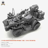 DIY Resin Figure 1/35 US Seal Troop Terrain Vehicle Model DXC 02