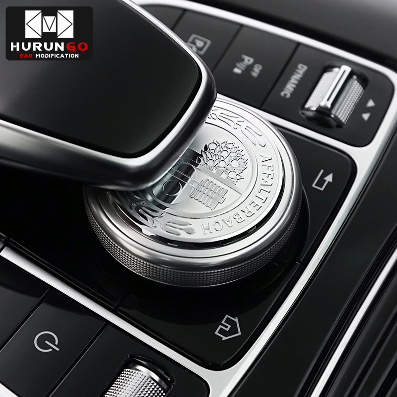 For Mercedes Benz Gle C E GLC260 C200 E300 W205 3D Metal Amg Apple Tree Center Console Multimedia Knob Decorative Stickers Cover