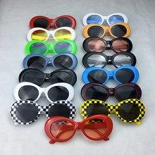 b0d2dce4f 2017 أفضل بيع البيضاوي النظارات الشمسية الرجال النساء ريترو البلاستيك إطار  نظارات الشمس كورت نظارات UV400 أسعار الجملة