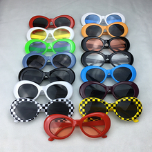 2017 Best Selling Oval Sunglasses Men Women Retro Plastic Frame Sun Glasses Kurt Cobain Glasses UV400 Wholesale Price