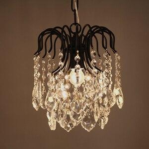 Image 2 - Krajem ameryki loft osobowość retro kryształ żelazny żyrandol jadalnia lampka do sypialni