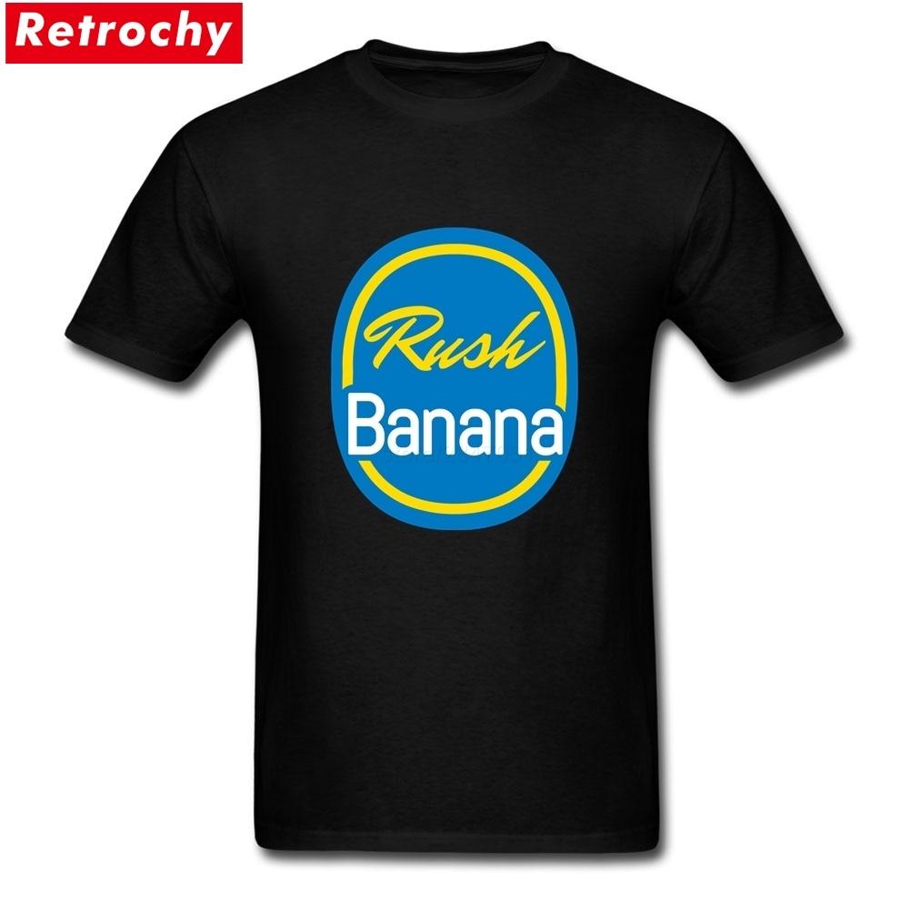 Rush Banana Merchandise Tees Short Sleeves Mens Spandex Cotton Plus Size Tees