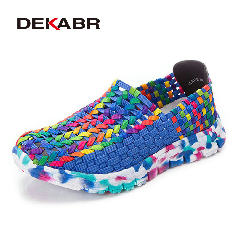 DEKABR Summer Fashion Woman Shoes New Casual Canvas Shoes Woman Flats Soft Comfortable Espadrilles Braid Women Shoes Zapatillas new women chinese traditional flower embroidered flats shoes casual comfortable soft canvas office career flats shoes g006