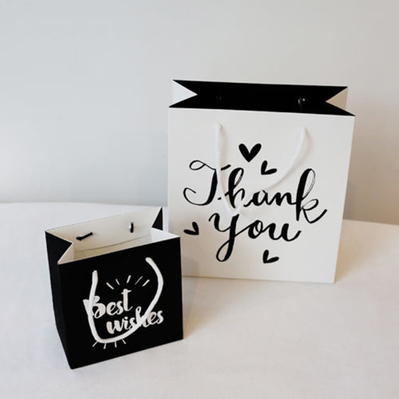 Cute Party Bags Kraft Paper Gift Bag With Handles Recyclable Shop Loot Bag Fashion Home Storage Bags Organization