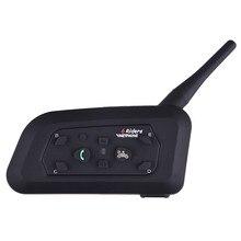 1pc V6 BT Multi Interphone Bluetooth Intercom For Motorcycle Wireless Headphones Accessories 1200M Helmet Headset 6 Riders