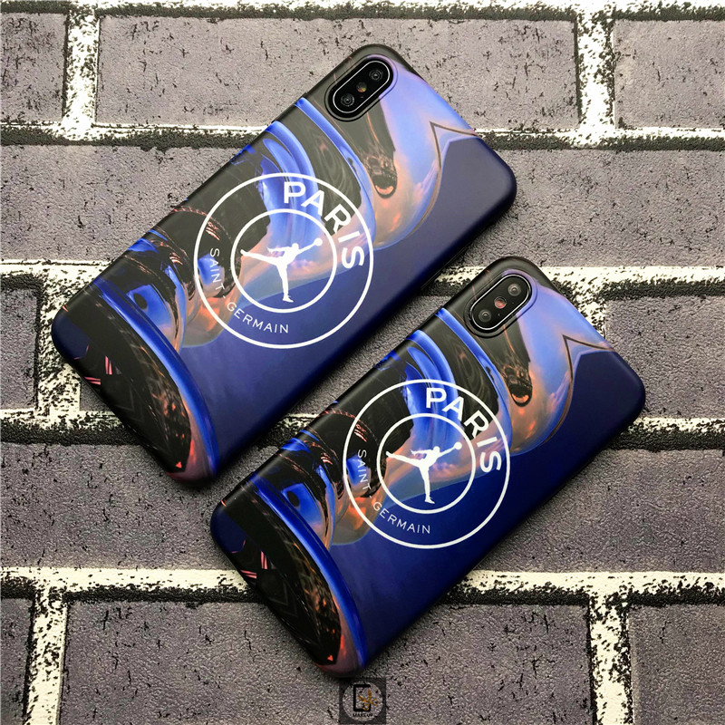 Trend Case For iphone 6 6S 7 8 Plus X 10 XR XS Max Fashion  Basketball fly man Jordan Soft silicon Big paris phone Cover coque
