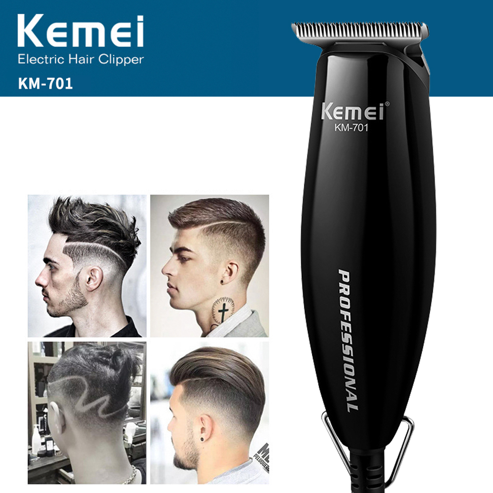 где купить Kemei Hair Trimmer Professional Hair Clipper Electric Haircut Machine Men Rechargeable Beard Removal Shaver Razor 701 дешево