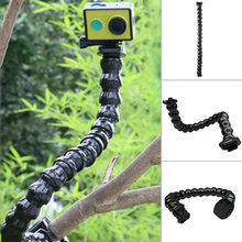 45cm Adjustable for Go Pro accessories 19 joint Jaws Clamp Mount Neck for GOPRO Hero 4 3+ 2 1 SJCAM /XIAOMIYI Sports Camera(China)