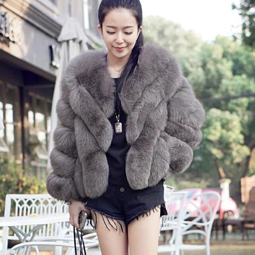 Faux Fur Vetement Femme 2019 Style Formal Workwear Fluffy Long Female Faux Fox Fur Vest Summer Winter Fluffy Women Mink Coat Vest V686 Jackets & Coats