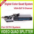 8-КАНАЛЬНЫЙ VGA-ВЫХОД Цифровой Цветной Видео Quad Splitter Процессор BNC Switcher для CCTV Системы Безопасности