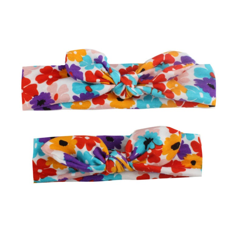2PCS Set Mom Mother Daughter Kids Baby Girls Bow Headband Hair Band Accessories Parent Child family Headwear in Hair Accessories from Mother Kids