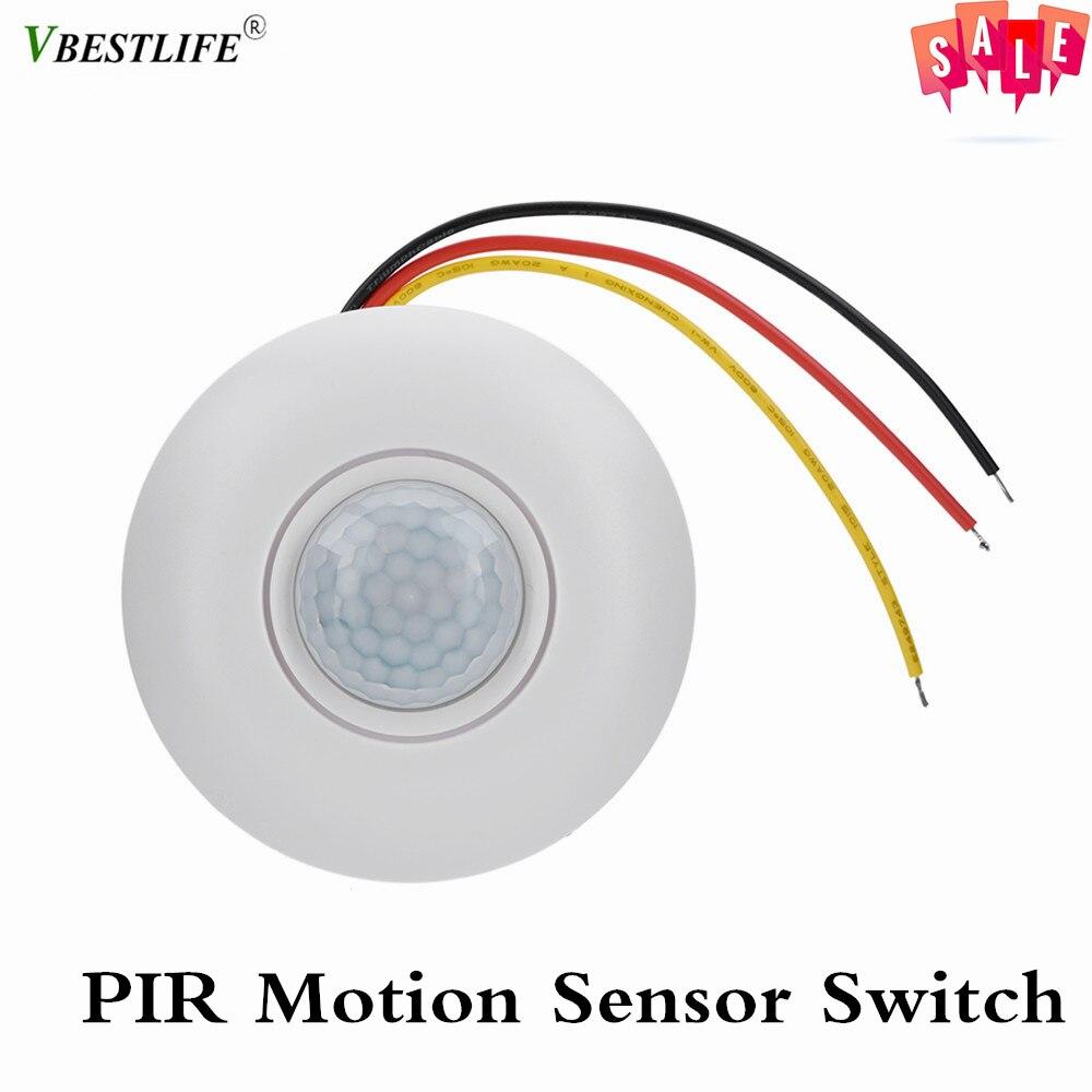 360 Infrared Pir Motion Sensor Switch With Time Delay For Led Ceiling Light 12v Temperature Compensation Human Infrared Sensor Sensor & Detector