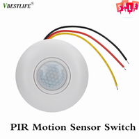360 Infrared PIR Motion Sensor Switch with Time Delay For LED Ceiling Light 12V Temperature Compensation Human Infrared Sensor