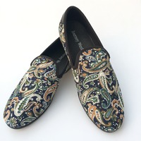New Fashion Men Loafers Casual Flat Shoes Slip On Print Loafers Men Party Shoes Men S
