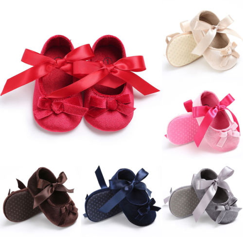Infant Baby Soft Sole Shoes First Walkers Newborn Girl Toddler Crib Moccasin Prewalker 0-18M