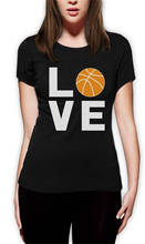 2018 New Arrival T Shirt Short Sleeve Graphic O-Neck  Love Basketballer Tees For Women