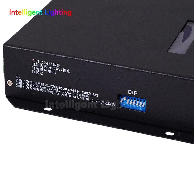 T-200K en ligne Led Pixel DMX contrôleur programme par PC pour WS2812 WS2811 1809 6803 WS2801 Pixels bande 8ports * 512 pixels - 3