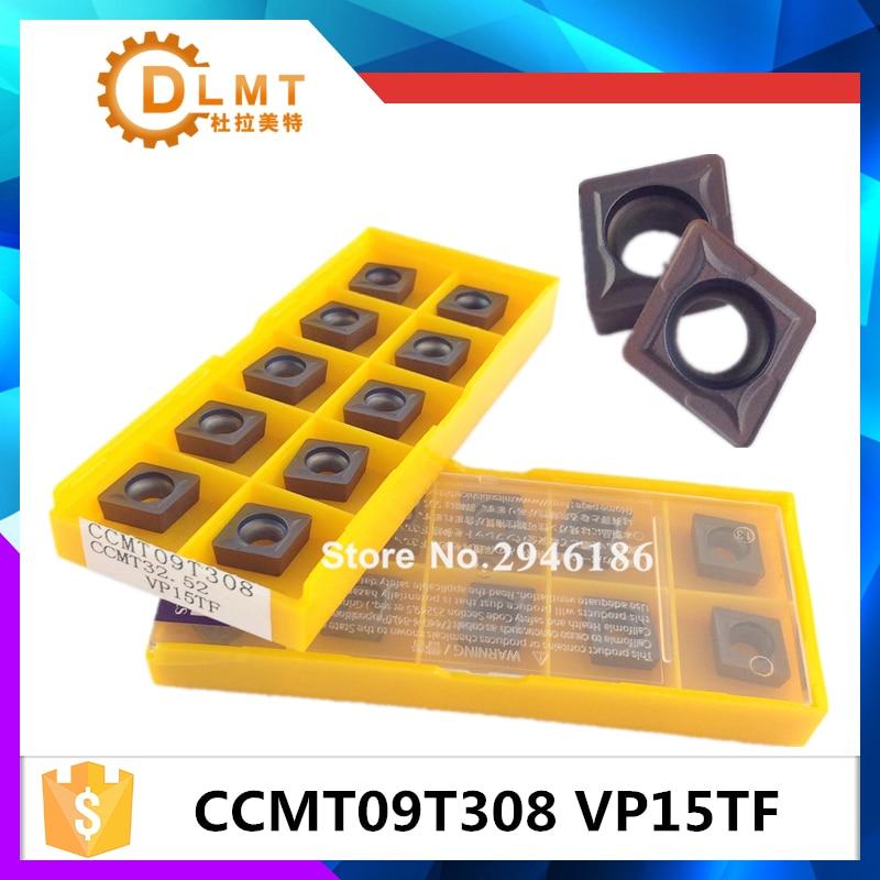 20tk CCMT09T308 VP15TF sisemine treimisriist Karbiidist sisetükid Lõikeriist CNC tööriistad Treipingi tööriistad Treipingi lõikur