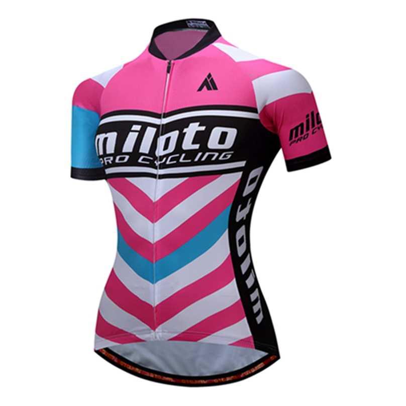 UFOBIKE MILOTO Лето Велоспорт Джерси Женская воздухопроницаемая одежда для катания на велосипеде гоночные MTB велосипедные рубашки одежда для велоспорта Ropa Ciclismo