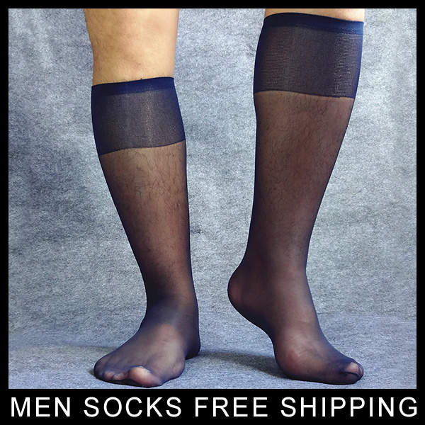 Online Shop Mens Ultra Thing Socks See Thru Hose For Male Sheer Navy Suit Socks Stocking Sexy Formal Dress Sox Fashion High Quality Aliexpress Mobile