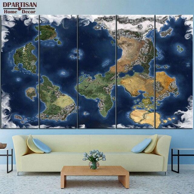 Dpartisan 5pcs panel world map canvas print world map wall art set dpartisan 5pcs panel world map canvas print world map wall art set world map print world gumiabroncs Gallery
