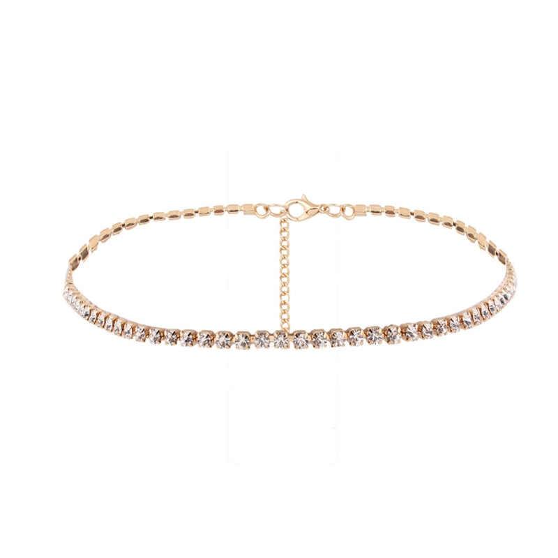 Collier doré/argenté cadeaux haute qualité cristal sans allergie Unique réglable mode bijoux gracieux 1PC doré/argenté