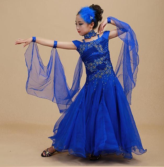2017, Новая мода Классический стиль детские Танцы платье вальс Лидер продаж национальный стандарт Танцы платье