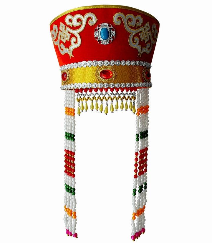 Adult Mongolia chapeau Mongolia dance hat headdress Xiangfei Mongolian Folk Dance Stage TV play Movie Headgear