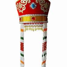 Взрослый монгольский головной убор chapeau монгольский танцевальный головной убор Xiangfei монгольский народный танец сценический ТВ игровой фильм головной убор