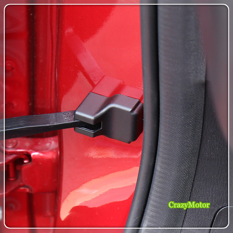 For Mazda CX-3 CX3 2015 2016 2017 2018 Car Styling Auto Black Door Lock Check Arm Cap Cover Door Stopper Cover 4* for mazda cx 5 cx5 2nd gen 2017 2018 car styling black interior accessories door lock cover car door buckle cover 4pcs