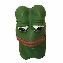 2017 Hot Selling Frog Latex Mask Halloween Costume Cosplay Realistic Sad Rubber Pepe