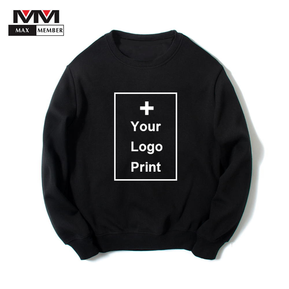 O Neck   Customized Logo Print  Long Sleeve Solid Sweatshirt Spring Soft Breathable Chic Pullovers Casual Sportswears