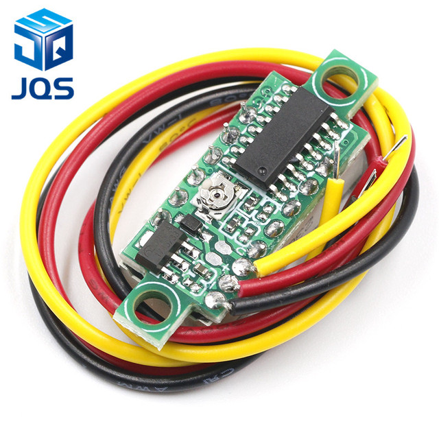 DC 0V-100V 0.28 inch LED Digital Voltmeter Voltage Meter Volt Detector Monitor Tester Panel Car 12V 24V Red Green Blue Yellow 5