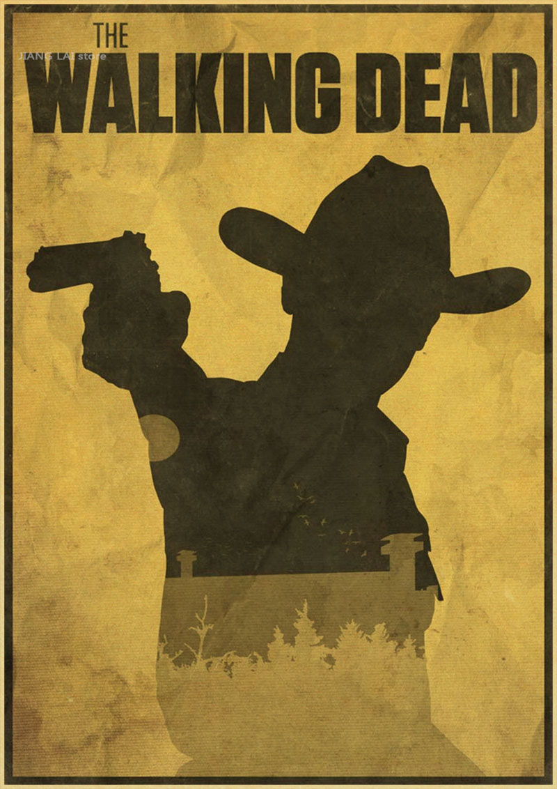 The Walking Dead anime TV Retro Poster Matte Kraft Paper Antique vintage Poster wallpaper Home Decora