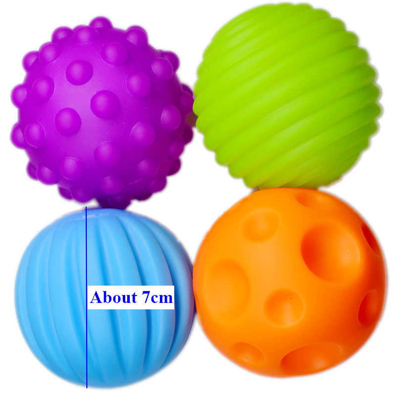 Children Ball Hand Sensory Baby Toy Rubber Textured Multi Tactile Senses Touch Toys Baby Training Massage Soft Balls #3