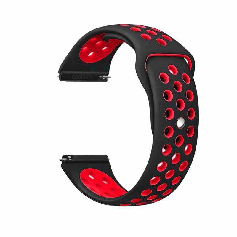 Cinturino di Vigilanza del Silicone per amazfit bip Cinturini 22 millimetri 20 millimetri Galaxy orologio 46 millimetri Samsung Gear sport S2 s3 frontier Classico della vigilanza della fascia