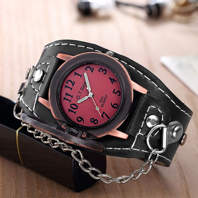 STAR Skull LEATHER WRISTWATCHES (2 VARIAN)