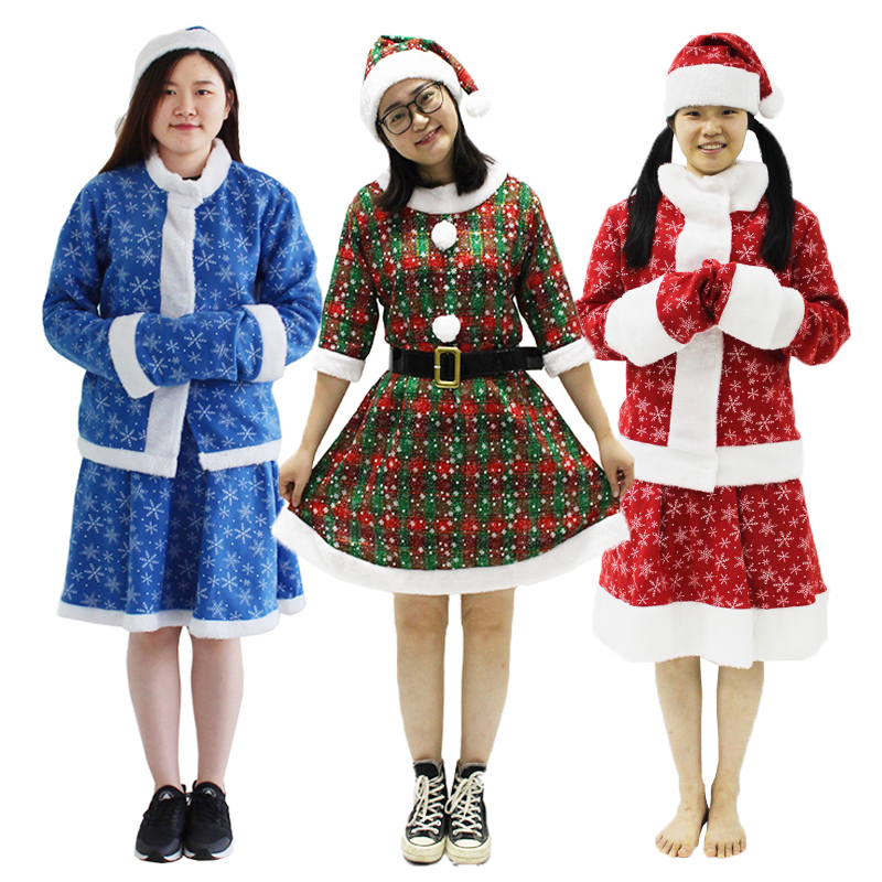 Christmas Santa Claus Costume for Women Snegurochka Costume Snow Maiden Xmas Cosplay Costume Sexy Female Christmas Dress