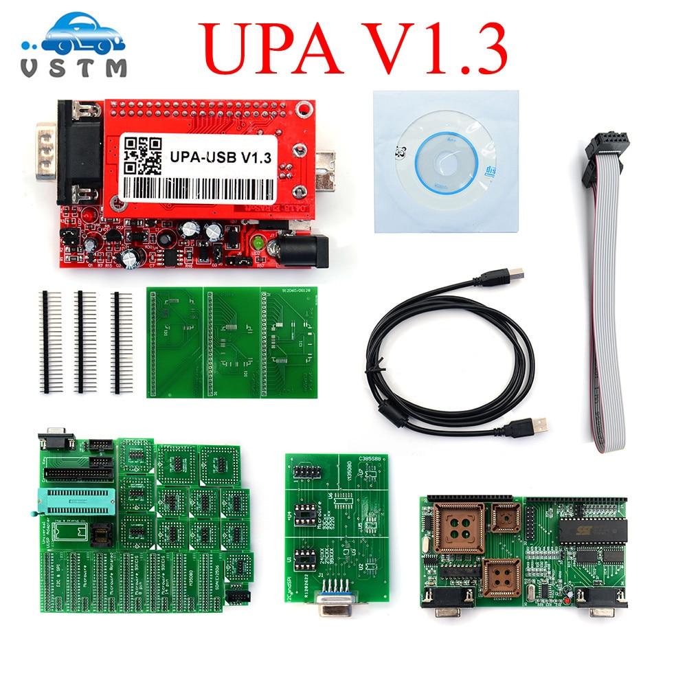 2019 New UPA USB Programmer V1.3 With Full Adapters Main Unit UPA-USB 1.3 UPA USB V1.3 ECU Chip Tunning OBD2 Diagnostic-Tool