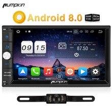 Тыквы 2 Din Android 8,0 универсальный автомобильный Радио нет dvd-плеер gps навигации Bluetooth стерео Qcta-core быстро загрузки 4 г головного устройства