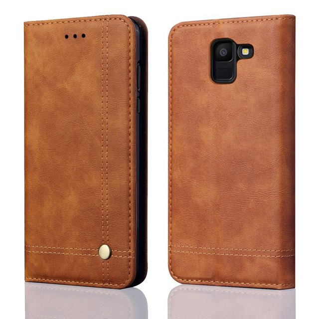 850f48d10d8 Luxury Flip Leather Case For Samsung Galaxy J6 2018 Case Wallet Pouch Style  Cover For Samsung