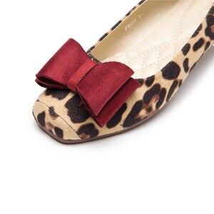 Image 5 - Beyarneladiesヒョウプリントフラットスクエアトゥの駆動靴グレー赤ソフトスリップアドオン妊娠女性のための通気性プラスSizeE709