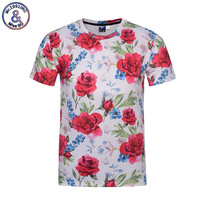 Mr 1991INC 2017 Brand T Shirt Men Women Fashion Flowers T Shirt 3d Print Birds Green