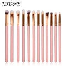 ФОТО 12 pcs dedicated eye makeup brush kit,professional set, long straight wood handle, powder/eye shadow/concealer/eyebrow/lip brush