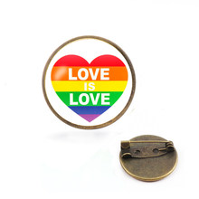 Hot Rainbow Hart pins Gay Pride Pin LGBT Pin Badge Awareness Broches Hart Sieraden voor Mannen Vrouwen Unisex Avengers 3 thanos(China)