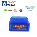 2017 diagnostic-tool V2.1 Super MINI ELM327 Bluetooth OBD/OBD2 Wireless ELM 327 v1.5 Multi-Language 12Kinds Works ON Android