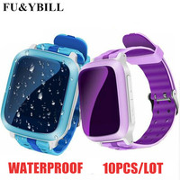 (10Pcs/Lot)Smart Phone GPS Watch Children Kid Wristwatch DS18 GSM GPS WiFi Locator Tracker Anti Lost Smartwatch Child PK Q80 Q90