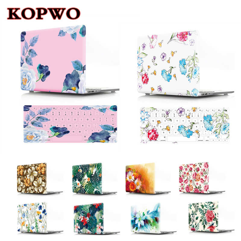 Funda protectora para ordenador portátil KOPWO Lovely Flower Notebook 2 en 1 para Macbook Air Pro 11 12 13 15 pulgadas a1534 A1369 A1502